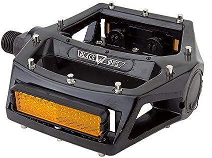 "BlackOps Aluminum BMX Pro Size Platform Pedals Red 9//16/"""