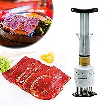 Inyector de condimento ablandador de carne 2 en 1 especial barbacoas de OPEN BUY: Amazon.es: Hogar