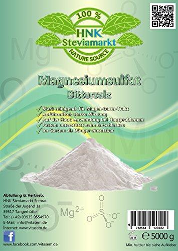Sulfato Sulfato de Magnesio 5 kg - Ayuda a la hora Ayuno Natural y Heil Ayuno - Laxante - Hígado Lavado: Amazon.es: Belleza