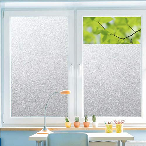 ASDFGH Self-Adhesive Privacy Glass Window Film, Frosted Glass Film Translucent Uv Prevention Frosted Glass Film Shower Living Room Office-A 120x300cm(47x118inch)