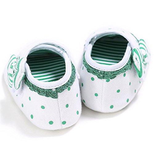 Pueri Zapato Niñas Zapatos de Encaje Zapatos Lazo Zapatos Primer Paso Verde