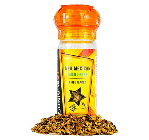 New-Mexican-Green-Chile-Flakes-09oz-Refillable-Spice-Grinder-Bottle