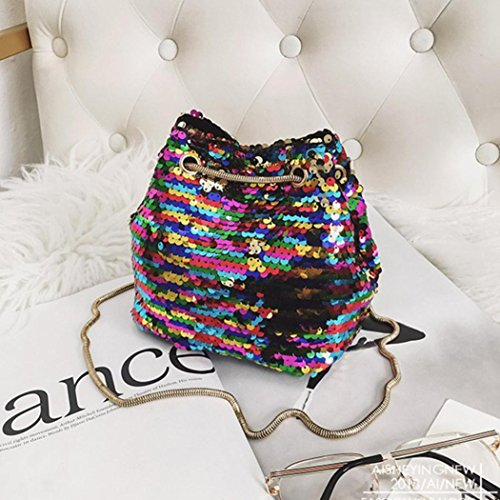 WILLTOO Womens Sequins Bag Fashion Handbag Purse Glitter Shoulder Bag Evening Party Clutch for Girl (Multicolor) by WILLTOO (Image #5)