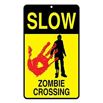 Slow Zombie Crossing - Cartel de Metal Divertido de 20 x 30 ...