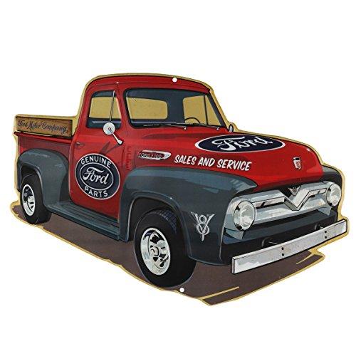 Motors Ford V8 (Open Road Brands LLC Ford Truck Embossed Tin Sign)