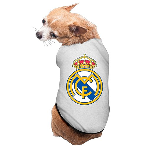 Real Madrid C.F Football Logo Dog Pet Dog Costumes (Crazy Dog Costumes)