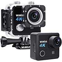WiMiUS 4K Underwater Waterproof 20MP Sony Sensor WiFi Action Camera with Remote 2 Batteries and Mounting Accessories Kit