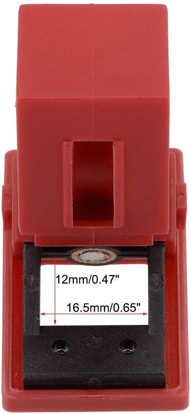 uxcell Clamp-On Circuit Breaker Lockout Lockout-Cleat Fits 16.5mm X 12mm Breakers