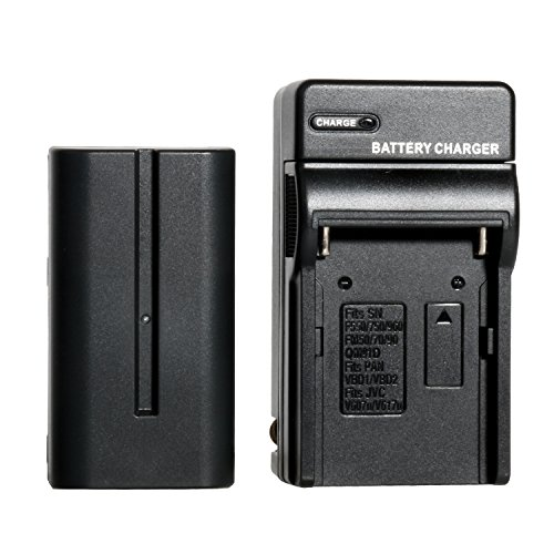 Universal NP-F550 7.4V 2200mAh Rechargeable Li-on Battery + Charger for Toazoe T119S Viltrox L116T 132T LED Video light and DC-70 II PRO DC-70EX DC-90 Camera Field Monitor by TOAZOE