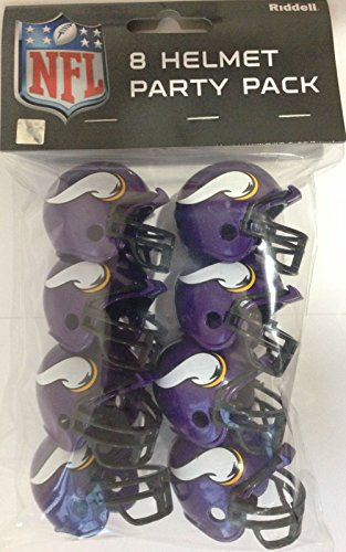 - Riddell 9585533018 Minnesota Vikings Team Helmet Party Pack