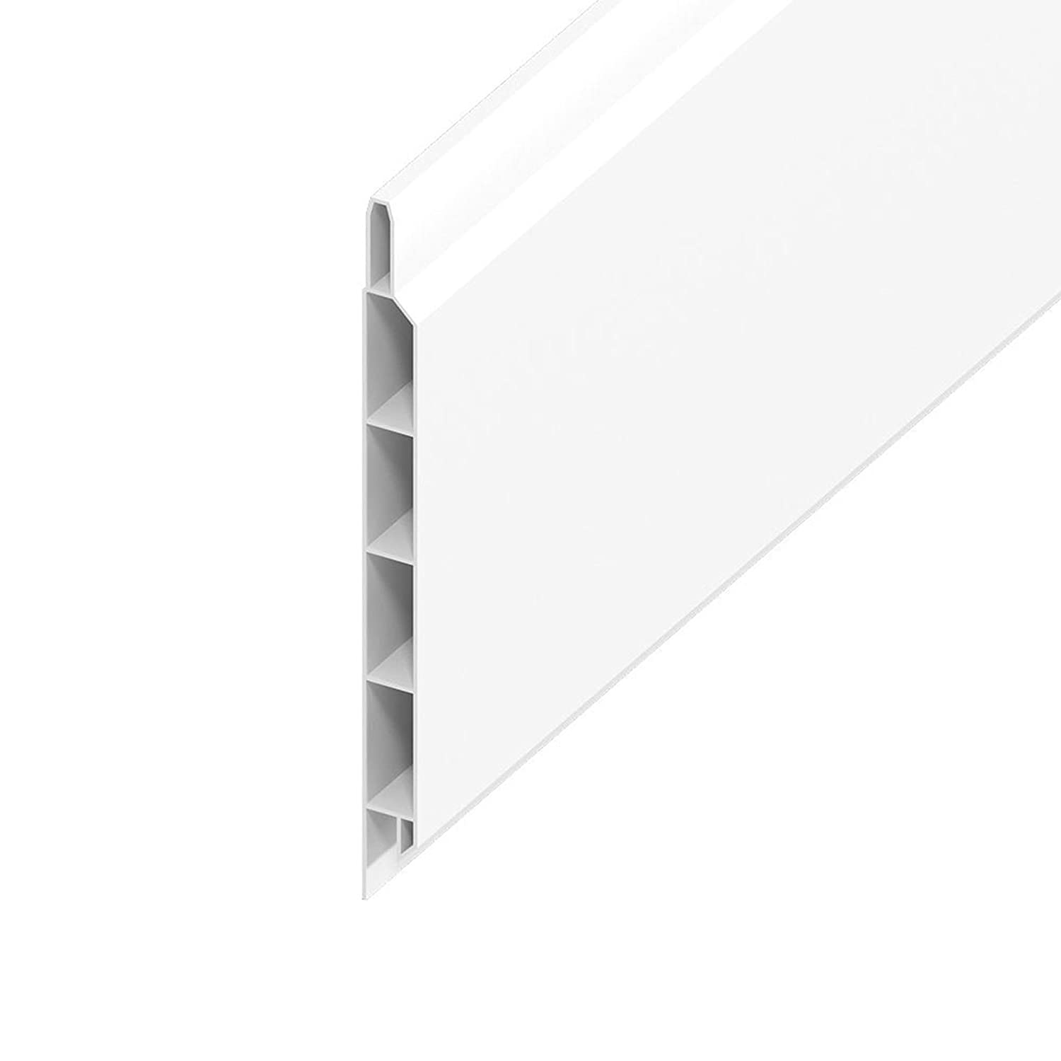 White, 100mm UPVC Flat Plastic Board / Soffit 9mm x 5m Length General Purpose Utility Liner Truly PVC Supplies