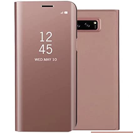 Galaxy S8 Shell, Translucent Window View Flip Wallet Stand Cover, Shiny  Plating Make Up Mirror, TAITOU Smart Sleep/Awake Hard Case For Samsung  Galaxy