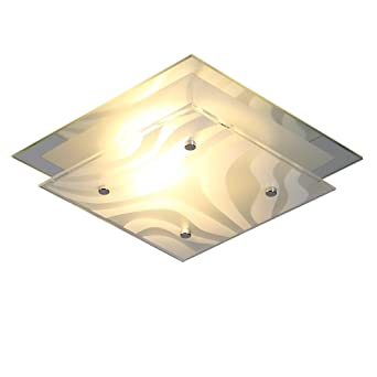 Plafonnier 24cm Murale Mirroir E27 230v Bordure En Polyvalent Ou Lampe Applique Convient Chrome24 X Comme Avec OukiPXZ