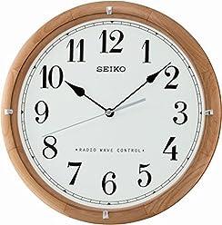 Seiko UnisexWall Clock Wooden White QXR208Z