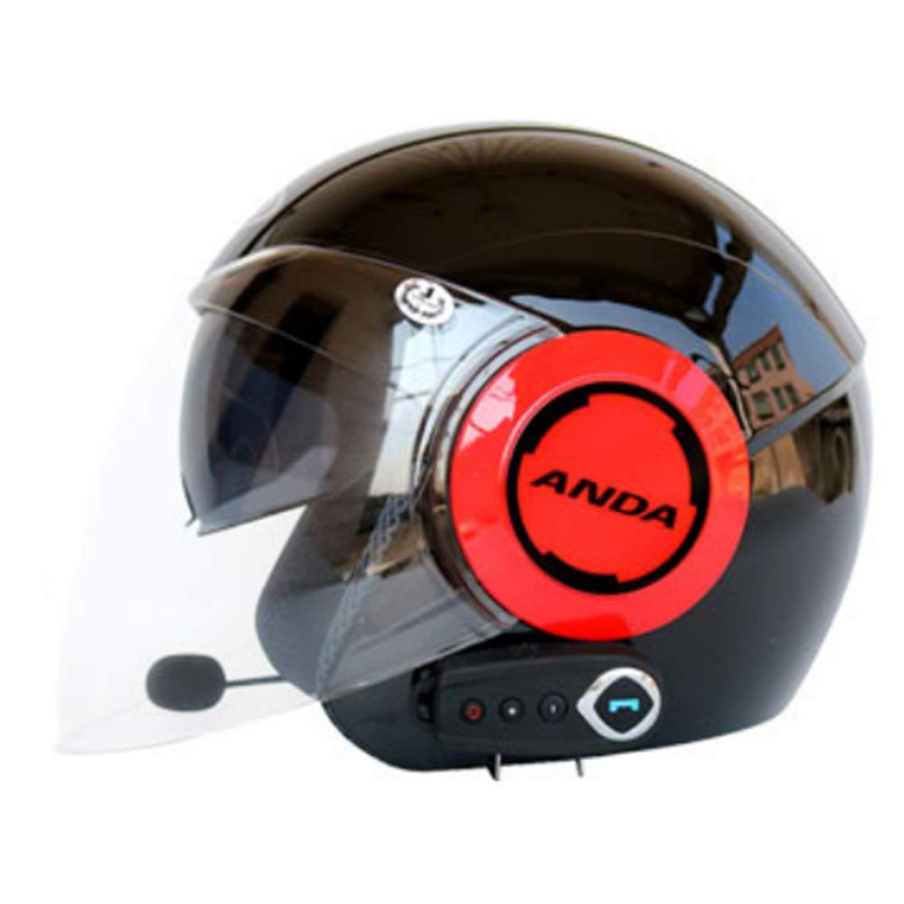 Half Open Face Motorcycle Helmet Bluetooth+FM city road Touring Helmets Built-in dual-speaker Bluetooth headset with microphone for automatic answering