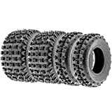 Terache T-FORCE XC Knobby ATV Tires 21x6-10 & 22x10-10 6 Ply (Full set of 4, Front & Rear)