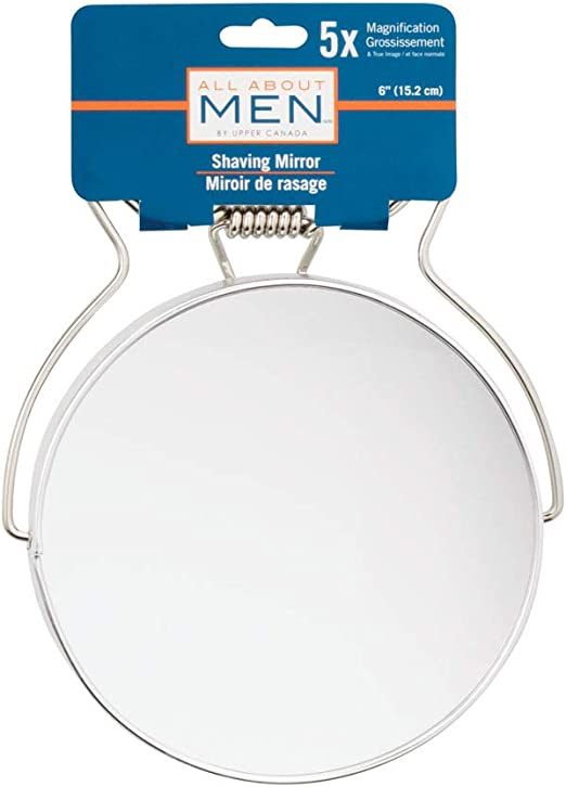 All About Men Chrome Shaving Mirror 5x Magnification