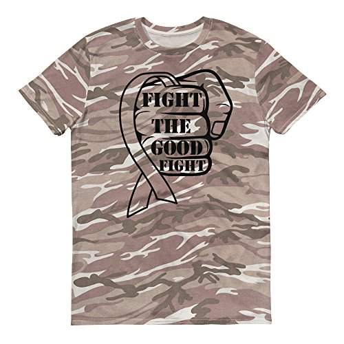 Fight The Good Fight Camo Ribbon Short-Sleeved Camouflage t-Shirt