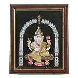 IndianShelf Handmade Paper Handmade Shell Craft Ganesh Framed Painting Online