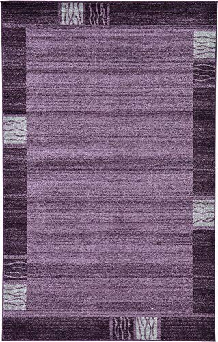 Unique Loom Del Mar Collection Contemporary Transitional Purple Area Rug (5' 0 x 8' 0)