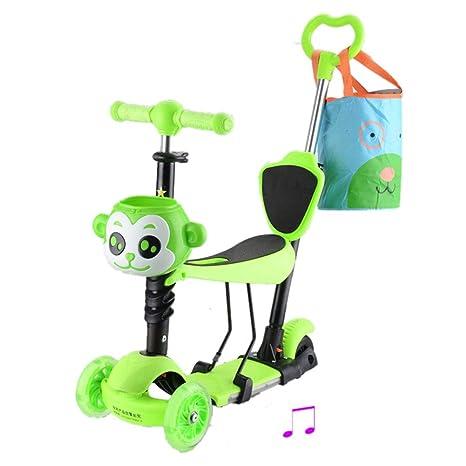 Baby Stroller YXGH@ Patinete 5 en 1 con Carrito de Asiento ...