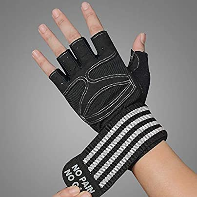 Gloves Pressurized Wristband Fitness Gloves Half Finger Gloves Non-slip Breathable Men Women Fitness Dumbbell Equipment Training Exercise Half Finger Wrist Half Finger Gloves Pair Sport Glove Estimated Price £28.76 -