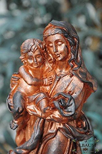 26 - 27 cm, Antiguo Rojo, Sagrada Virgen María con niño, virgen Madre de Dios con divertido, aufgeweckten Jesús de niño, uraltes Símbolo del christlichen Fe ...