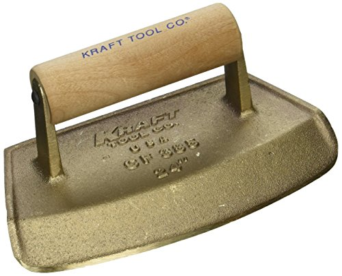 Kraft Tool CF385 Diameter Chamfer Tube Bronze Edger with Wood Handle, 24-Inch (Concrete Edger Bronze)