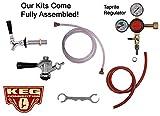 Single SS Tap Fridge Kit,'D' Commercial (Sanke) Beer Kegs, Taprite Regulator