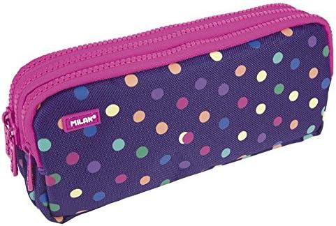 Milan 081135DT Dots Estuches, 22 cm, Multicolor: Amazon.es: Equipaje