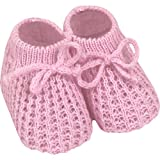 Baby 0-3 Months Super Soft Knitted Sock Boots (Baby Pink)