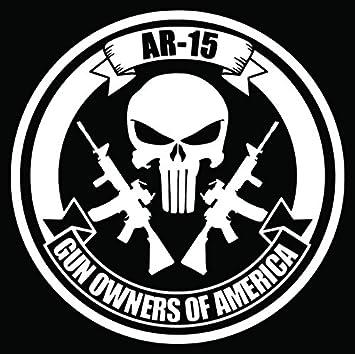 Amazon ar 15 punisher skull rifle gun owners america car truck ar 15 punisher skull rifle gun owners america car truck window bumper vinyl graphic decal publicscrutiny Gallery