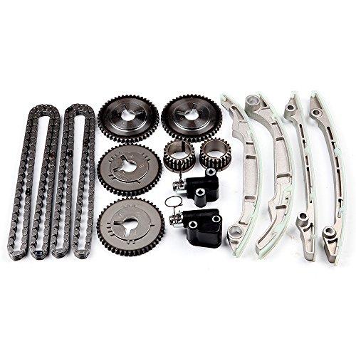 OCPTY Timing Chain Kit Tensioner Guide Cam Gear fits for 2004-2010 Nissan Titan Armada Pathfinder Infiniti QX56 5.6L 13091-7S000