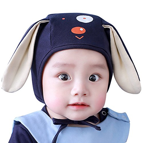 Little Kids Cartoon Winter Autumn Hat,Jchen(TM) Clearance Toddler Infant Baby Kids Boys Girls Cartoon Dog 3D Ears Beanie Headwear Hat Cap for 0-4 (Navy)