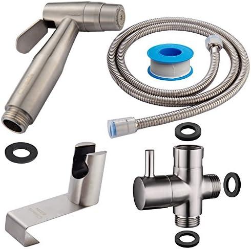 CIENCIA Bidet-Handbrause für Toilette Sprayer Premium Edelstahl Sprüher Shattaf Komplett Bidet Set für WC(WS024AF)