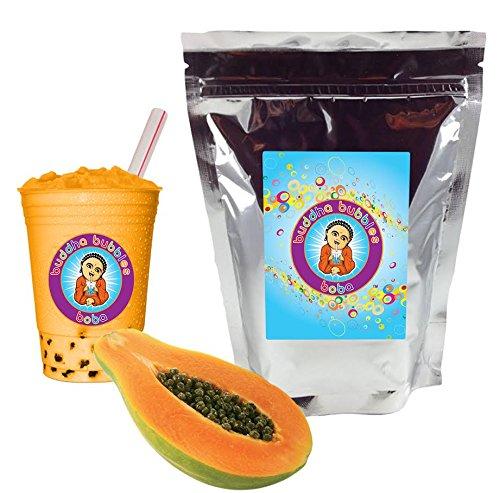 Papaya Boba/Bubble Tea Powder By Buddha Bubbles Boba 10 Ounces (283 Grams) ()
