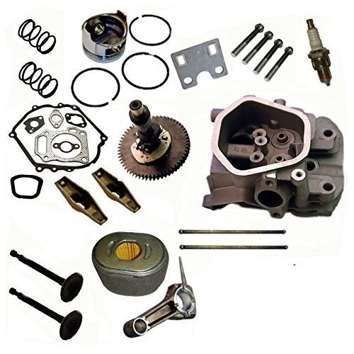 Everest Cylinder Head Rebuild Kit Rockers Valves Camshaft Piston Compatible with Honda GX270