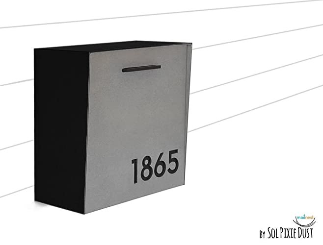 custom wall mount mailbox. Simple Mount Modern Mailbox With Concrete Face Black Aluminum Body And Acrylic   Custom On Wall Mount P