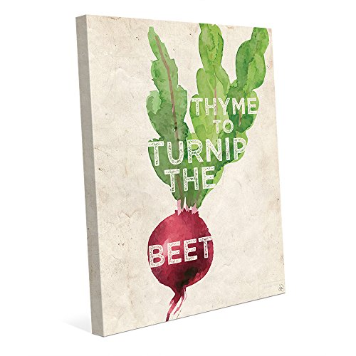 Thyme to Turnip the Beet Funny Saying Quote Watercolor Painting