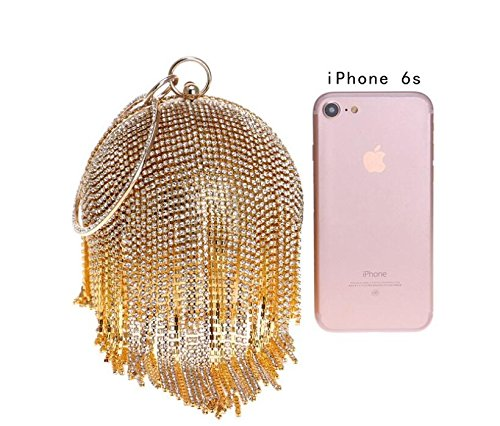 Small Diamante Slive Crossbody Clutch Bag Bridal Clutch Purse Handbag Evening Party Handbag Elegant Bridal GSHGA Wedding Ladies axPpIp