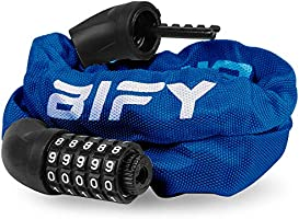 BIFY Bike Lock/Bicycle Lock/Cycling Lock,38mm x970mm Chain Lock680g,Suitable for Bicycles and Motorcycles,Electric Vehicles