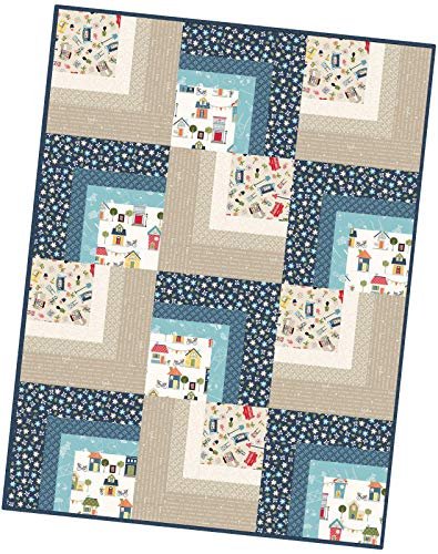 Kim Christopherson Make Yourself at Home Corner Cabin Pod Quilt Kit Maywood Studio