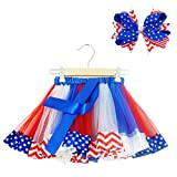 Bingoshine Little Girls July 4th American Flag Printed Tutu Skirt Independence Day Dress Review