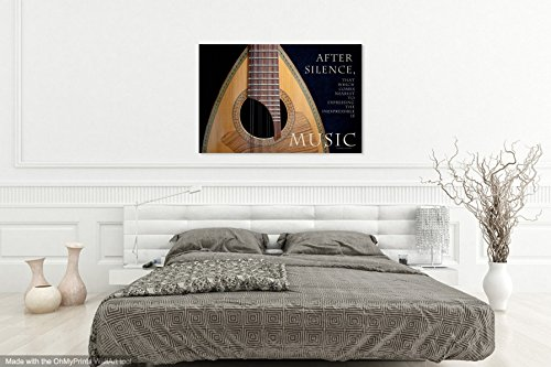 Musical Instrument Photography Print on CANVAS Mandolin Photo Music Decor Inspirational Wall Art Golden Brown Black Home Decor Ready to Hang 8x10 8x12 11x14 12x18 16x20 16x24 20x30 24x36