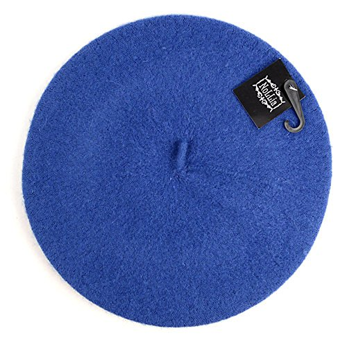 Women's Ladies Solid Colored Classic French Wool Blend Beret Hat Cap (Marine Blue) for $<!--$15.95-->