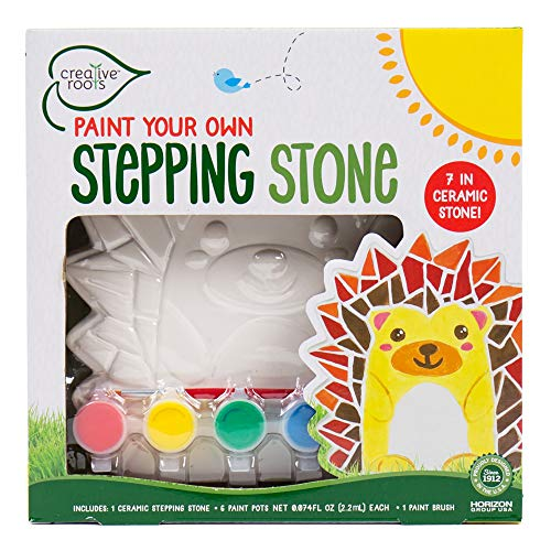 Creative Roots Paint Your Own Hedgehog Stepping Stone by Horizon Group USA Toy, Assorted -