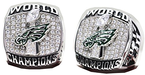 2017 - 2018 Philadelphia Eagles Football Super Bowl World Championship Ring Commemorative Foles (2018 Super Bowl Ring)