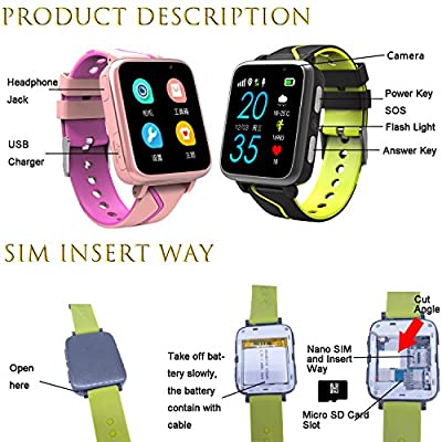 Jesam Kids Music Smart Watch for Boys and Girls - Smart Watch with Mp3 FM Player Watch [with 1GB Micro SD Card] and Camera Flashlight SIM Slot Phone Call Voice Chat LBS Tracker for Students Age 4-12 from Jesam
