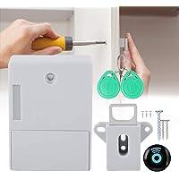 【 Veelzijdig 】 RFID-sloten voor kasten, verborgen doe-het-zelfslot, elektronisch batterijvak, digitaal slot zonder gat.