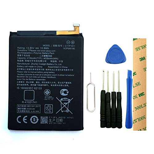 for ASUS ZenFone 3 Max ZC520TL X008DC Replacement Battery C11P1611 Free Adhesive Tool